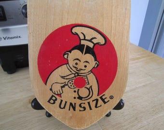 Wooden Hamburger Press Bunsize