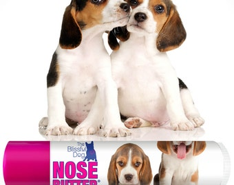 Beagle Original NOSE BUTTER® Handcrafted All Natural Balm for Dry Crusty Dog Noses CHOICE: One .15 oz Tube or 3-Pack of .15 Tubes