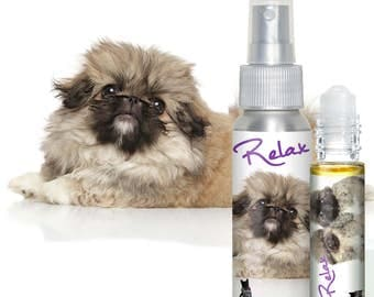 Pekingese Dog RELAX Aromatherapy Roll-On Takes the Edge Off Stress & Anxiety in Dogs Calming Essential Oil Blend in Roll-On and Spray Bottle