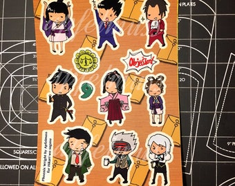 Phoenix wright ace attorney themed stickers