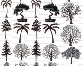 SALE Tree Sepia Decals for Image Transfer Onto Glass Surfaces 32 Trees Learn how to add images to your fused glass art
