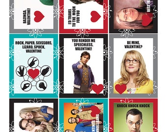 Big Bang Theory Valentines Day Cards, Download and Print!