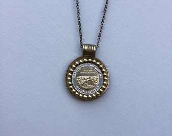 ARGENTINA - One of a Kind Argentinian Coin Necklace - Reversible