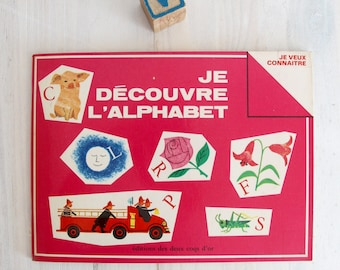 Vintage children French book - JE DECOUVRE L'ALPHABET