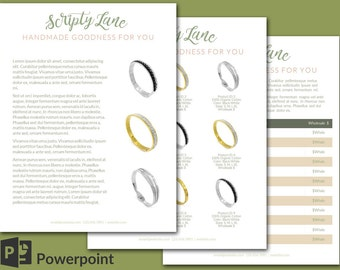 Simple, Clean Wholesale Template, 9 products - Scripty Lane design 4 page set