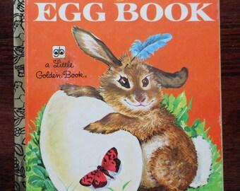 Vintage Little Golden Book The Golden Egg Book Children's Book Bunny and Duck