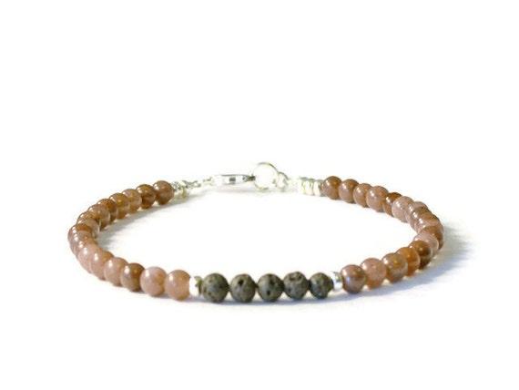 Purple Aventurine Essential Oil Diffuser Bracelet, Lava Rock Jewelry