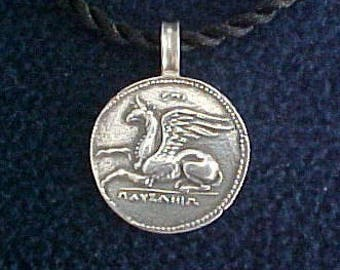 Sterling Silver Griffin Ancient Coin Replica