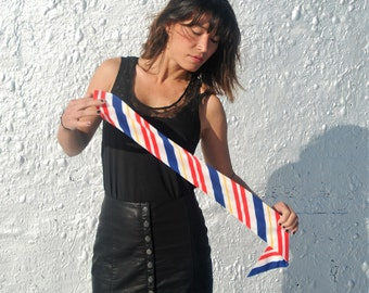 SALE Vintage 1970s Patriotic Red White and Blue Fabulous Scarf Headband