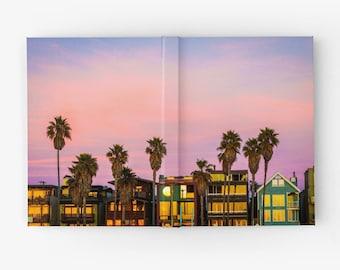 Venice Beach Hardcover Blank Book ~ Notebook ~ California ~ Sketchbook ~ LA ~ Beach ~ Boardwalk ~ Surf ~ Palm Trees ~ California ~