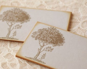 Tree Place Cards Food Buffet Label Tags Wish Cards Tree Branch Leaf Wedding Set of 10