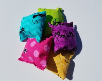 Neon Multicolor Cats Catnip Pillow Puffs Kitty Cat Toy