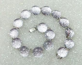 Bracelet in Sparkling Silver Dichroic Glass, Ice Snow, Mermaid Tears, Winter Fun Jewelry, Link Bracelet, Silver, White, Classic Style