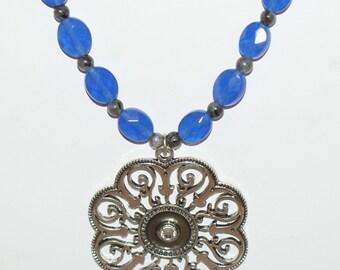 Blue Flower Necklace (159)