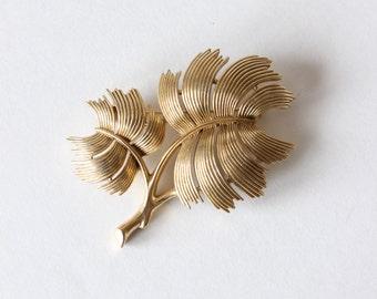 Vintage Goldtone Branch Trifari Brooch