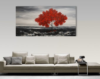 XXL, Abstract Painting, Original Painting Landscape, Tree, Abstract Wall Art, Home Decor, Large Painting,  Fine Art, Art By Catalin,