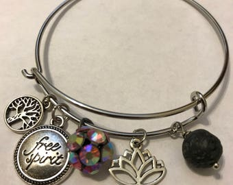 "Pretty Diffuser Charm Bracelets:  Chloe Collection - ""Free Spirit"""