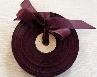 Vintage 1930's-40's French Woven Ribbon -Milliners Stock- 5/8 Inch Gorgeous Cabernet Wine