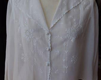 Edwardian Cotton Blouse M