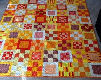 Oranges & Yellows Handmade Quilt