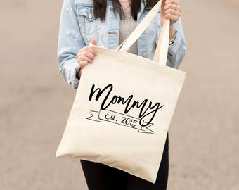 Mommy, Tote bag, Mother's Day, Canvas, Established, Mom, Mama, Mother