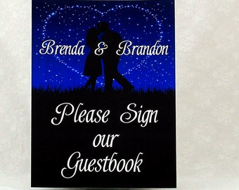 Starry Night Guestbook Sign