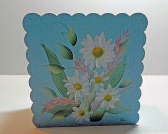 Floral Daisy Tole Painting Decorative Box