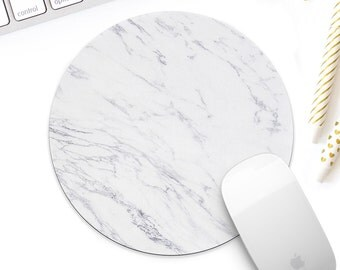 White marble mouse pad for her, Light marble desk accessory, marble office decor gift, modern marble decor, new job gift, coworker gift