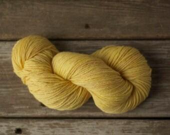 Hand Dyed Yarn, Wool Yarn, Yarn, Wool, Worsted Weight, 100% Wool Yarn, Knitting, Crochet, Kettle Dyed, Tonal, Indie Dyed, Yellow, Primrose