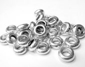 50 Large hole beads antique silver spacers jewelry making Large hole spacer beads silver beads  no lead no nickel  Hp540-(T4)