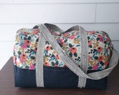 The Adventurer bag in Rifle Paper Co. Les Fleur's fabric Made To Order