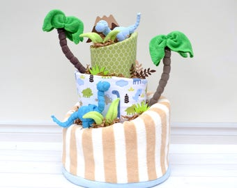 Dinosaur Baby Shower, Dinosaur Party, Dinosaur Shower Decor, Dinosaur Diaper Cake, Dino Shower Decorations, Babysaurus, Boy Baby Gift