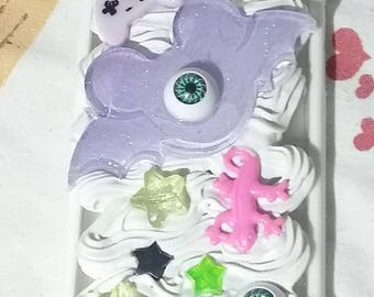 READY TO SHIP Creepy Cute Pastel Goth Video Game Controller One Eye Bat Iphone 6 Deco Case