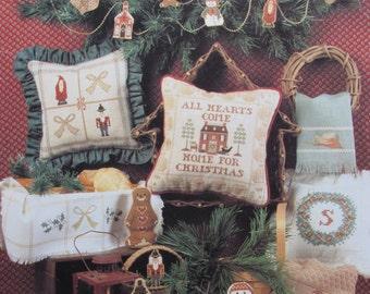 Cinnamon Stick Christmas VII/Counted Cross Stitch Patterns by Homespun Elegance/1992/Angels/Santa/Snowman/Ornaments/Towels