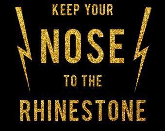 Nose to the Rhinestone Burlesque Legends Fundraiser Glitter Tee
