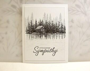 Sympathy Card, Serene Sympathy Card, Woodland Sympathy Card, Rustic Sympathy Card, Condolence Card, Heartfelt Sympathy Card, Thinking of You