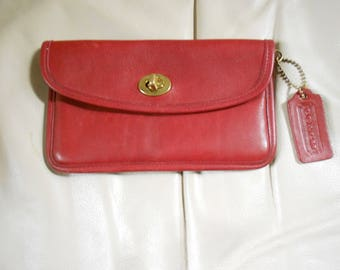 Coach Wallet / Red Coach Wallet
