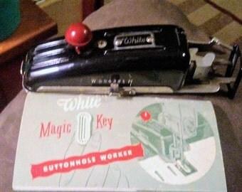 Vintage White Magic Key Buttonholer