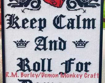 Keep Calm & Roll For Damage DIGITAL PATTERN