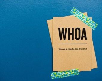 Whoa. You're a really good friend.
