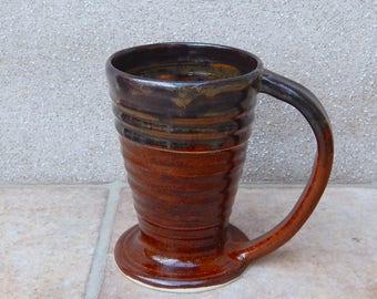 Coffee mug tea cup wheel thrown in stoneware handmade ceramic handthrown pottery