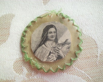 Small Antique Earth from the Grave of the Little Flower Relic Therese of Lisieux