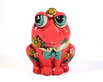 Vintage Chalkware Frog Bank