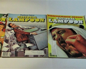 Vintage 1980's National Lampoon Humor Mags Lot of 4