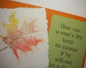 LET IT FLOW ~ Mixed Media Greeting Card with inspirational quote