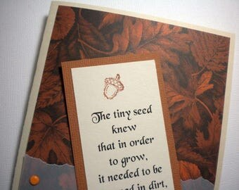 REACHING THE LIGHT ~ Bookmark Greeting Card with encouraging quote