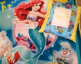 Little mermaid quilt and personalized pillow