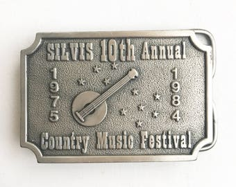 Vintage Country Music Festival Belt Buckle (1984)