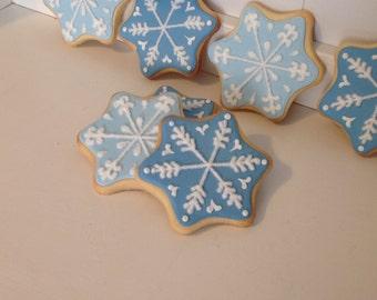 Snowflake Sugar Christmas Cookies - 1 Dozen