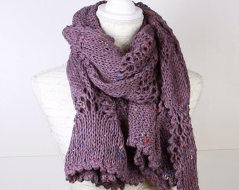 Scarf , Shawl, Light Purple ,Stole ,Perfect for Winter,